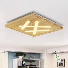 zmh led deckenleuchte modern dimmbar deckenle mit fernbedienung aus holz acryl wohnzimmerle schlafzimmer 40cm 33w quadratische flurle