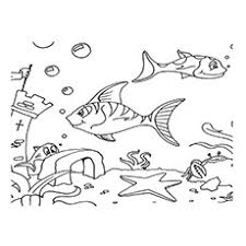 Underwater Ruins Ocean View Coloring Pages