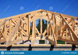100 House Trusses Roofing Construction Wooden Roof Frame Construction