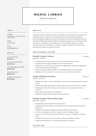 Material Handler Resume Templates 2019 (Free Download ... Teacher Contact Information Mplate Uppageco Resume Templates Leadership Qualities Work Professional Resume Examples Personal Teacher Assistant Sample Writing Tips Genius Leading Management Cover Letter Examples Rources Strong Organizational Skills Person For To Put On A Qualities For 6 Characteristics Of Preschool Monstercom