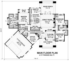Craftsman Style Floor Plans Bungalow by Craftsman Style House Plan 3 Beds 3 Baths 2177 Sq Ft Plan 51