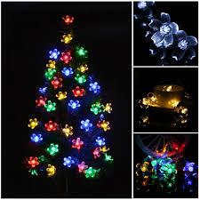 Wholesale New Fairy Romantic Shining 10led Plum Shaped String Lights Christmas Tree Hanging Ornament Wedding Xmas Light Led Bedroom