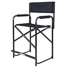 Camp Chair With Footrest by Dura Tech Tall Folding Director U0027s Chair In Stall Drapes Chairs At