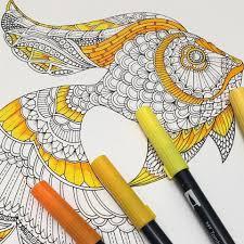 Johanna Basford Coloring Canvas GoldfishJohanna Lost Ocean The Goldfish