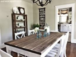 Enchanting Modern Country Dining Room Ideas With White Armchair Grey Patterned Cushion