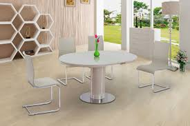 100 White Gloss Extending Dining Table And Chairs Verfuhrerisch Black 4