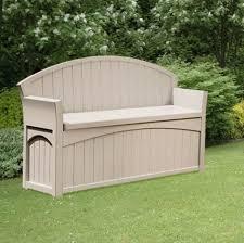 Patio Rubbermaid Storage Bench Organize Regarding Outside Outdoor