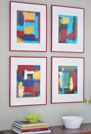 DIY Projects Abstract Wall Art Frames