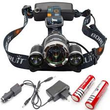 Head Lamp by Led Flashlight 2000 Lumen Tactical Waterproof Zoomable Powerful