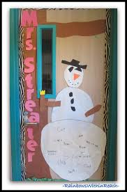 Winter Themed Classroom Door Decorations by Www Rainbowswithinreach Blogspot Com