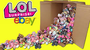 LOL Surprise Dolls Series 1 4 HUGE Opening BIG EBAY FULL TOY BOX