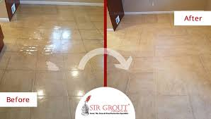 an amazing tile sealing brought this kitchen floor in