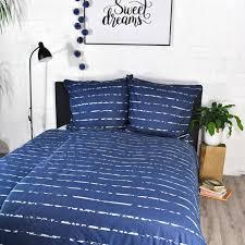 jilda tex bettwäsche modern stripes blau