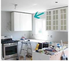 Kitchen Soffit Design Ideas by How To Hide A Soffit In Akurum Upper Cabinet Ikea Hackers Ikea