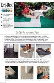 Perforated Drain Tile Sizes by Amazon Com Dri Dek 1 U0027x1 U0027 Interlocking Tiles Flexible Patio