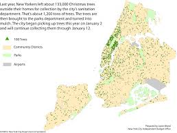 Nyc Christmas Tree Recycling 2016 by Sanitation New York City By The Numbers