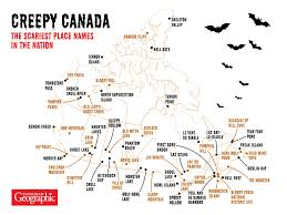 Spooky Halloween Tombstone Names by Map Canada U0027s Spookiest Place Names Canadian Geographic