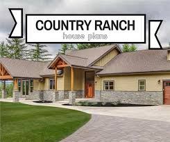 Country Ranch House Plans Rustic Estate Style Without Stairs