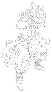 Dragon Ball Z Goku Super Saiyan 5 Coloring Pages Printable