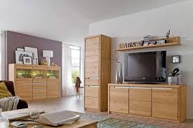 wohnzimmer eiche massiv bianco 4 teilig wohnwand highboard