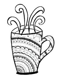 Iced Coffee Coloring Pages Cups Page Starbucks Cute Drawing
