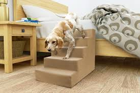 Pet Stairs For Tall Beds by Precioustails Homebase High Density Foam 5 Step Pet Stair