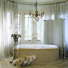 Modern Chandelier Over Bathtub by Bathroom Unique Bathroom Chandeliers Over White Tub Using Wooden