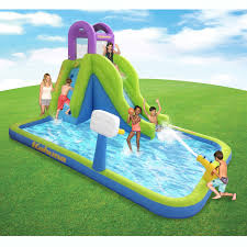 Kahuna Tornado Tower Inflatable Outdoor Backyard Kiddie Pool Slide Water Park