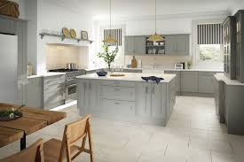 Traditional Designer Kitchen In Grey