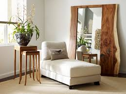 Vintage Wall Decor Mirrors With Decorative Wooden Mirror Frame And Sleeper Couch For Attractive Interior Decorating Art