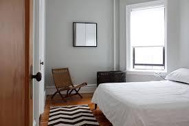 Benjamin Moore Gray Owl Oc 52 Modern Bedroom Also Basket Bedding Chair Chevron Rug Vintage