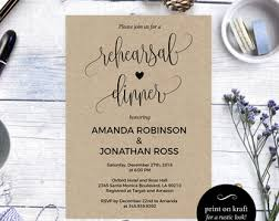 Rehearsal Dinner Invitations The Night Before Rustic Kraft