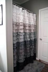 White Ruffle Curtains Target by Light Gray Ruffle Shower Curtain Curtain Ideas