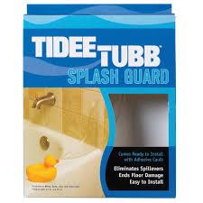 tidee tubb clear splash guard 5tt uc tub shower surrounds