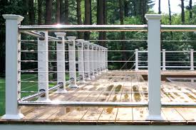Metal Deck Skirting Ideas by Deck Railing Photo Gallery Stainless Steel U0026 Cable Railing