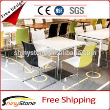 High End Fast Food Buffet Restaurant Artificial Stone Dining Table