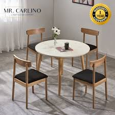 KERR Kitchen Round Dining Table Set WITH 4 CHAIRS