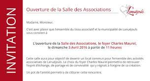 ouverture de la maison des associations mairie de lanuéjouls
