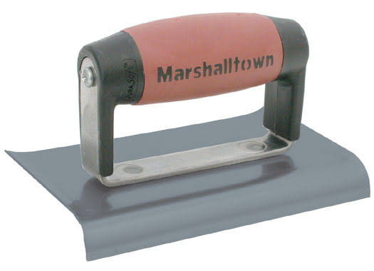 "Marshalltown Blue Steel Curved End Hand Edger - 3"" x 6"""