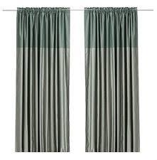 ikea nyvaken 1 pair curtains drapes pink 2 panels kids checkered