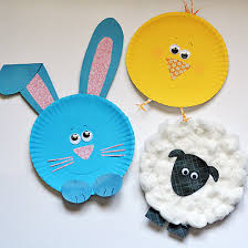 Paper Plate Easter Characters DIY Crafts