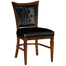 100 Black Leather Side Dining Chairs Jonathan Charles Side Chair In Black Leather