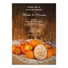 Fall Wedding Invitations With Pumpkins