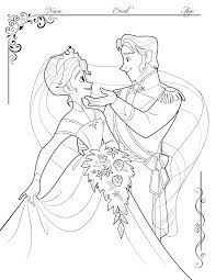Coloring Contest On My Blog Hans And Annas Wedding Day Oh Come