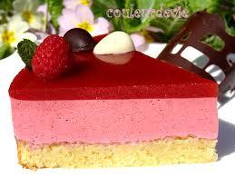 dessert pour 15 personnes bavarois aux framboises miroir aux fraises sur fondant aux