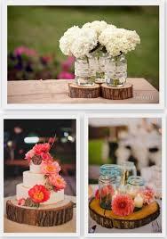 Rustic Wedding Country Mason Jar Centerpieces Hydrangea