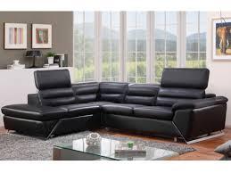 canape dangle cuir canapé d angle gauche ou droit en cuir noir fergus