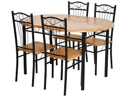 table et 4 chaises ensemble table 4 chaises sally noir 52767