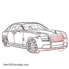 rolls royce how to draw easy
