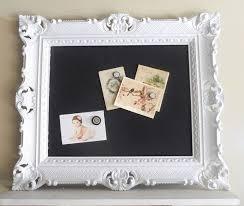 NEW Item Vintage Antique Wedding Pure White Magnetic Chalkboard
